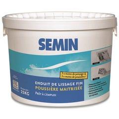 Enduit pâte poussière maîtrisée 25 kg - SEMIN