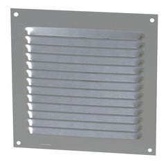 GRILLE CARREE ALU ANODISE GRIS 150 x 150 MM 1LM1515G NICOLL