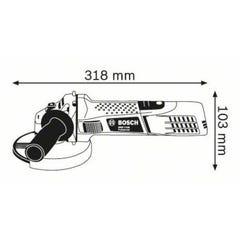 MEULEUSE D'ANGLE 125MM 720W BOSCH PRO GWS 7