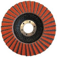 Disque à Lamelles grain céramique Ø 125 Grain 80 NORTON décapage métal inox  pour meuleuse - abrasif
