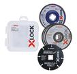 5 accessoires X-Lock : 3 x métal, 1 x lamel, 1 x multiwheel - BOSCH