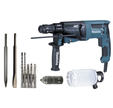 Perforateur MAKITA HR2631FTX4 800W mandrin amovible SDS+ 2,6 joules en coffret + 8 accessoires