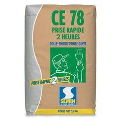 Colle-enduit pour joint CE78 rapide 2h sac de 25 kg - SEMIN