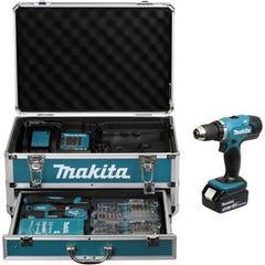 Perceuse Visseuse MAKITA sans fil 18V DDF453SFX3 + 2 batteries 3Ah + Coffret/accessoires