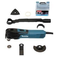 Multi Tool MAKITA découpeur ponceur tm3010cx6 320W + 6 accessoires