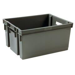 Bac de rangement plastique gris 30 L