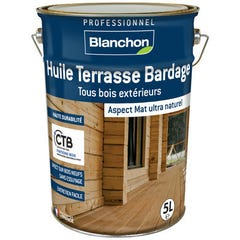 Huile terrasse et bardage bois BLANCHON Chêne moyen 5L