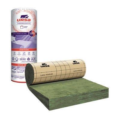 Rouleau laine de verre Kraft TH40 R = 7,5 L.260 x l.120 cm Ep.300 mm - URSA