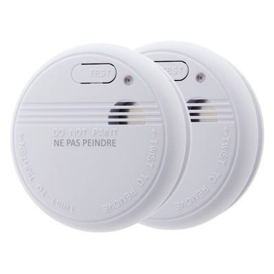 Lot de 2 détecteurs de fumée NF 5 ans