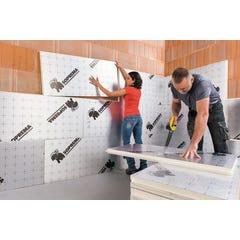 6 Panneaux isolants Polyuréthane + alu, Sol+Mur 120x60 cm Ep80mm R = 3.70 SOPREMA