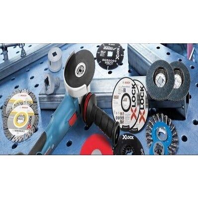 Disque à tronçonner X-Lock moyeu plat métal inox Diam.115 x 1 mm - BOSCH