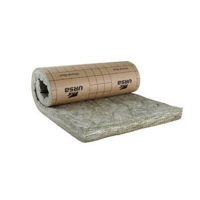 Panneau roulé laine de verre Kraft TH32 R = 3,15 L.270 x l.120 cm Ep.101 mm - URSA