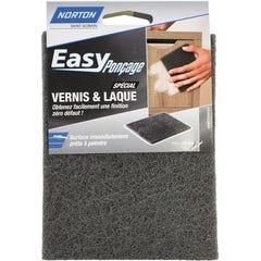 Eponge abrasive pour ponçage et égrénage du vernis ou laque NORTON 115x150mm
