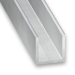 Profil en U Aluminium brut 15x10 L100cm
