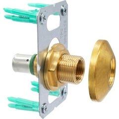 Kit de fixation robinetterie simple Easy Fix pour installation en PER à sertir Ø16