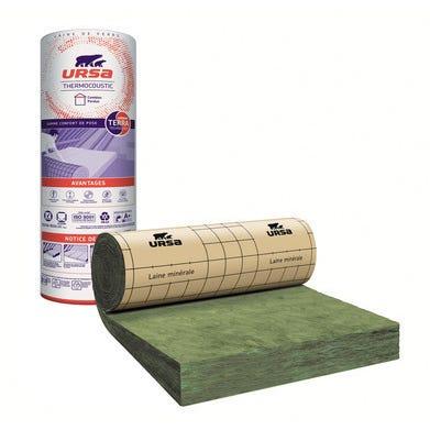Rouleau de laine de verre Kraft λ 40 R = 5 L.500 x l.120 cm Ep.200 mm - URSA