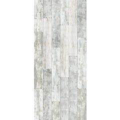 Lambris élement 3D PVC blanc mix L.2600 x l.375 x 8 mm - colis de 2,925 m² - GROSFILLEX