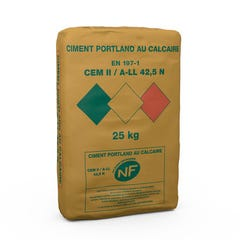 Ciment Gris Wemat Nf, Sac 25kg