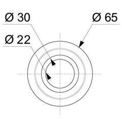 Joint de clapet standard pour mécanismes WC M25 WIRQUIN PRO