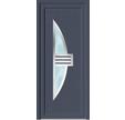 PORTE ENTREE PVC NEPTUNE GRIS H215XL90 Droite