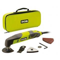 Multitool RYOBI 200W Découpeur Ponceur Outil Multifonction + 10 Accessoires RMT200S 5133001818
