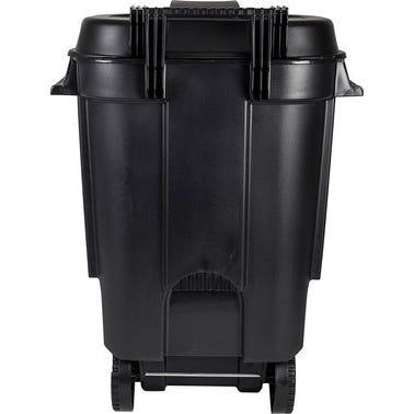 Poubelle à roulettes noire 110 L