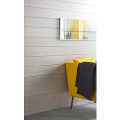 Lambris MDF revêtu décor gris 8x150x2600MM - Colis de 2,73m²