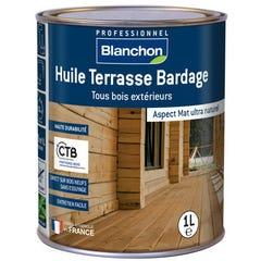 Huile terrasse et bardage bois BLANCHON Chêne moyen 1L