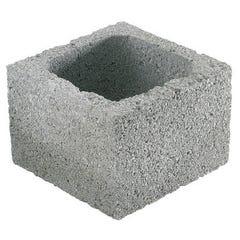 Elément de pilier à enduire gris 20 x 20 x 25 cm