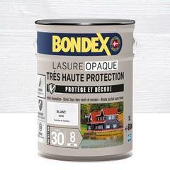 Lasure opaque très haute protection 8 ans blanc 5 L - BONDEX