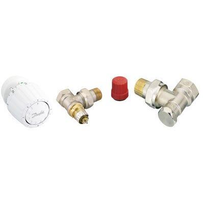 Kit robinet thermostatique équerre RA2990 DANFOSS
