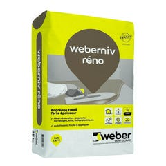 Ragreage fibré forte épaisseur reno 25 Kg Weberniv - WEBER